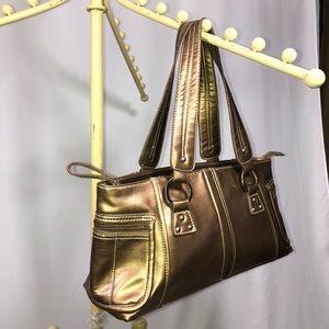 Worthington bronze satchel zip top